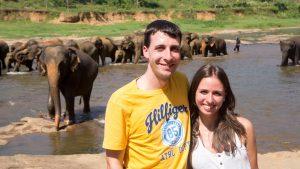 Franzi und Chris in Sri Lanka