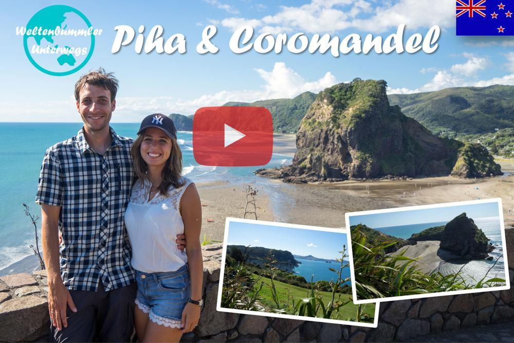 Weltreise Vlog #45: Piha & Coromandel ∙ Heiße Pools und schwarze Strände
