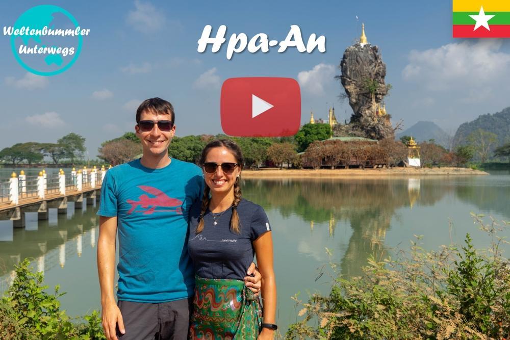 Hpa-an ∙ Höhlen, Reisfelder und viele Buddhas ∙ Myanmar ∙ Weltreise Vlog #61