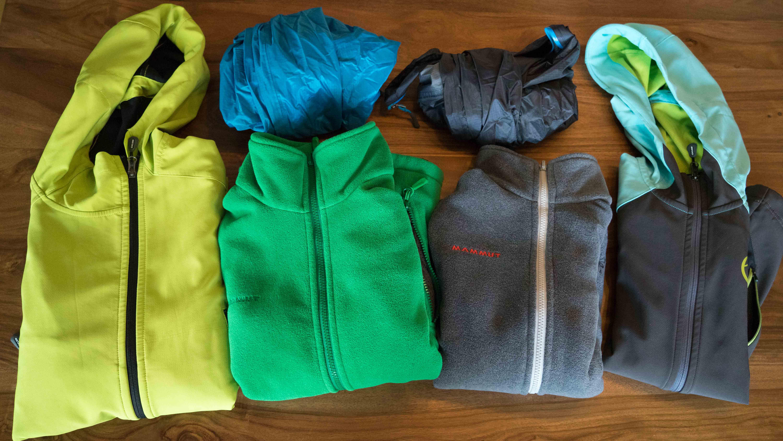 Packliste Jacken