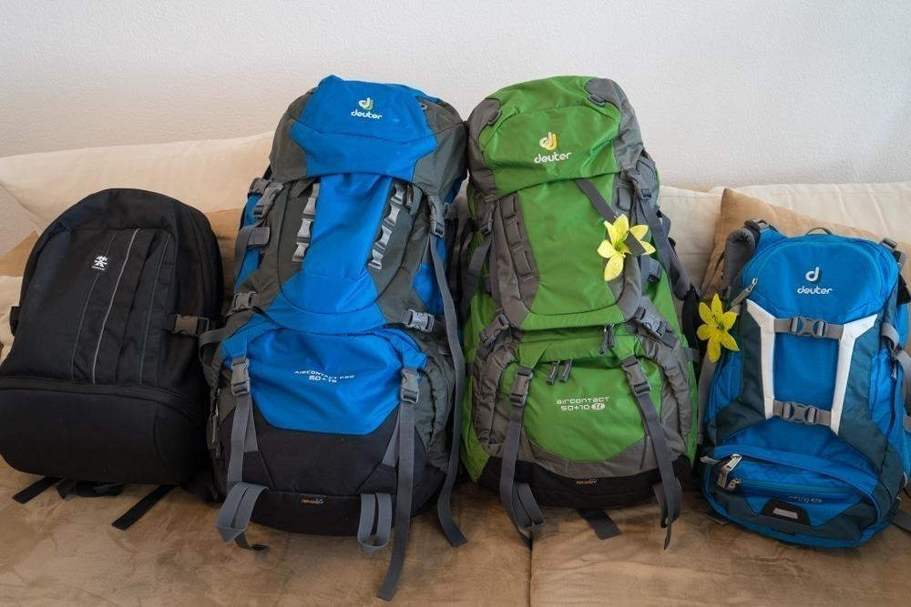 Unsere Packliste für die Weltreise