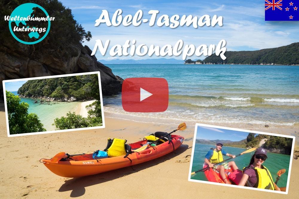 Weltreise Vlog #50: Abel Tasman ∙ Mit dem Kanu zu wunderschönen Stränden