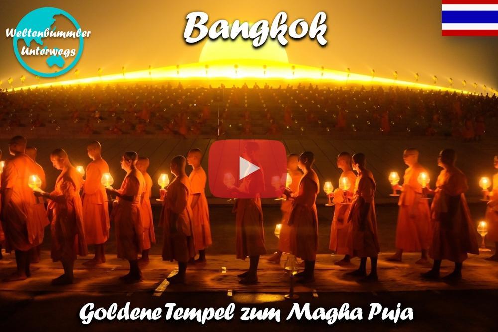 Bangkok ∙ Magha Puja ∙ Mit 100.000 Menschen im Dhammakaya Tempel ∙ Weltreise Vlog #74