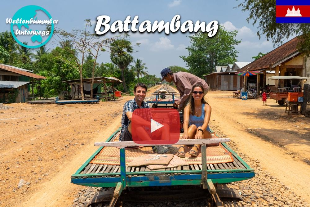 Battambang ∙ Mit dem Tuk Tuk zum Bamboo Train und den Killing Caves ∙ Kambodscha∙ Weltreise Vlog #82
