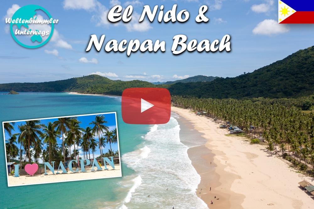 El Nido ∙ Mit der Drohne über den traumhaften Nacpan Beach ∙ Philippinen ∙ Weltreise Vlog #85