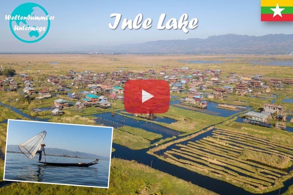 Inle Lake ∙ Mit der Drohne über die schwimmenden Dörfer ∙ Myanmar ∙ Weltreise Vlog #64