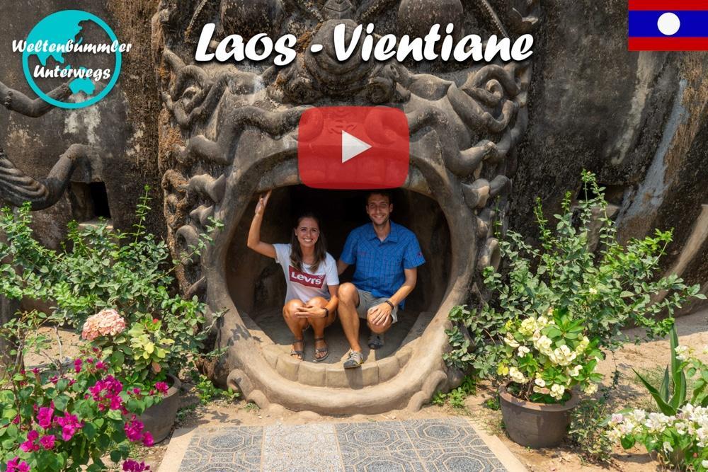 Vientiane • Skurrile Figuren im Buddhapark • Laos ∙ Weltreise Vlog #75