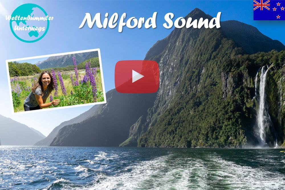 Weltreise Vlog #54: Milford Sound ∙ Mit dem Boot durch die Fjorde Neuseelands