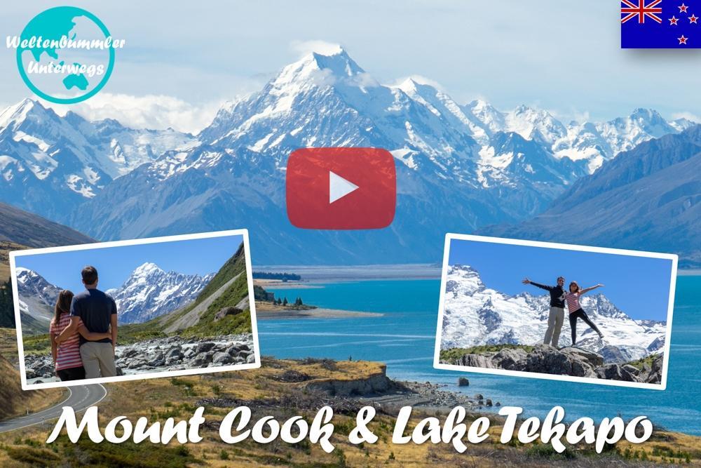 Weltreise Vlog #56: Mount Cook & Lake Tekapo ∙ Zwischen Gletscher und Blumen