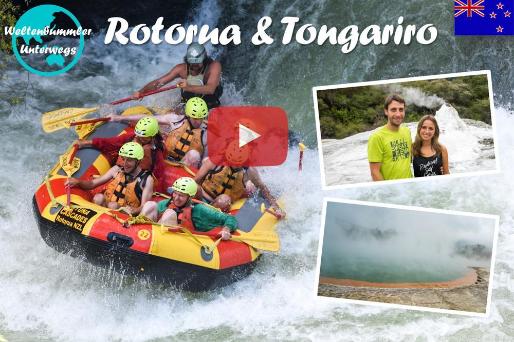 Weltreise Vlog #47: Rotorua & Tongariro ∙ Spritzige Abenteuer und heiße Quellen