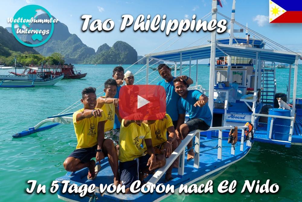 Tao Philippines Expedition ∙ 5 Tage per Boot von Coron nach El Nido ∙ Palawan ∙ Weltreise Vlog #84